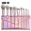 10 Pcs Pink Makeup Brushes Blush And Eye Shadow Brushe And Makeup Bag Set
