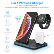 15W Qi Wireless Charger For iPhone X 8 Xiaomi Huawei Quick Charge 3.0 Fast Charger Dock Station For Apple Airpods iWatch 4 3 2 1
