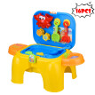 Children's Toy Stool Game Table Summer Beach Toy Sandglass Play Kids Sand 16PCS