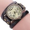 CCQ Brand Vintage Cow Leather Bracelet Watch Men Women Wristwatch Quartz BK