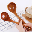 Japanese Solid Wood Soup Ladle Long Handle Hot Pot Spoon Kitchen Cooking Utensil