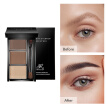 3 Color Eyebrow Enhancer Makeup Brown Natural  Palette Eyebrowpowder Palette 3D Shadow lasting Waterproof With Brush Cosmetic