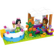 Girls Club Heart Lake Summer Swimming Pool Compatible with Lego Particle Blocks