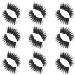 Gobestart Luxury 9Paire 5D False Lashes Fluffy Strip Eyelashes Long Natural Party Makeup