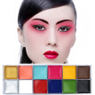 12 Colors Flash Tattoo Face Body Paint Oil Painting Art Festival Party Fancy Dress Beauty Makeup Tools maquiagem
