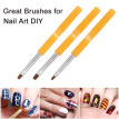9pcs Professional UV Gel Acrylic Nail Brushes Kit for False Nail Tips Builder Nail Art Design Painting Pen Set Nail Manicure Tool