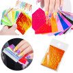 Gobestart 16PCS Branch Nail Art Stickers Reflections Tape Adhesive Foils DIY Decoration