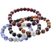 Men's Fashion Natural Stone Bracelet Concise Lucky Beads Bangle Cuff Jewelry Gift