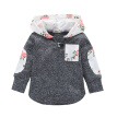 2018 New Child Kids Baby Boys Girl Sweetshirt Long Sleeve Gray Cartoon Leisure Coat Clothes