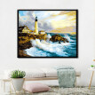 Bridge Ocean Coastal City DIY Oil Painting By Numbers Kit Wall Room Office Decor