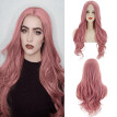 Nomeni Women's Fashion Wig Pink Synthetic Hair short Cury Wigs hair Wave Wig