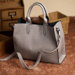 Women's Fashion Leather Shoulder Bags with Corssbody Bag&Handbag Gray