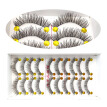 10 Pairs / Box Of Fashion Makeup Handmade Black Messy Thick False Eyelashes Natural Beauty Makeup Fake Eyelash Extension Tool