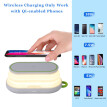 2 in 1 Wireless Charger Power Bank 5000mAh Qi Fast Wireless Charger Type-C Powerbank Charging Station Stand For iPhone SamSung
