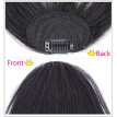 High temperature wire Extension Natural Black Wig Female Air Bangs Hair Piece