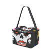 ALAZA Lunch Box Insulated Lunch Bag Large Cooler Skull And Text In The Floral Frame Tote Bag