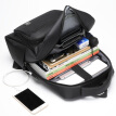 Golf GOLF 15.6-inch laptop bag multifunctional comes with glasses case men's large capacity USB charging backpack business travel backpack D9BV33871S black