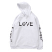 LOVE Letter Print Long Sleeve Fashion Autumn Winter Fashion Hoodies Male Coat Men Hoodies Sweatshirts Black/White/Gray/Pink