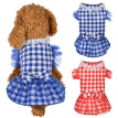 Cute Bling Lattice Dog Puppy Bow Dress Tutu Skirt Dog Pet Cat Luxury Princess Wedding Party Dress Summer Dog Chihuahua Clothes