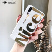 Tronsnic Nice Miss Phone Case for iPhone 7 8 Plus Shiny Mirror Gold Cases Fashion Covers Luxury Capa