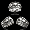 European And American Fashion Men'S Stainless Steel Skull Band Ring Hip Hop Punk Gothic Engagement Jewelry Rings Size 6-13
