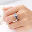 Bluelans Fashion Women Hollow Cubic Zirconia Ring Wedding Engagement Bridal Jewelry Gift