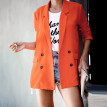 Womens Casual Blazer Ruched Long Sleeve Open Front Fit Office Cardigan  Jacket