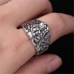 Bluelans Vintage Men Carved Lion Heads Band Finger Ring Hip Hop Party Club Jewelry Gift