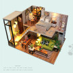 Siaonvr 3D Wooden DIY Miniature Dollhouse Nordic Time Decorate Creative Crafts Gifts