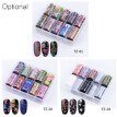 10 Rolls/set Nail Foil Polish Stickers Mix Rose Flower Holographic Transfer Foil Nails Decal Sliders for Nail Art Decoration Manic