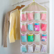 16 Grid Underwear Bras Socks Ties Shoes Storage Organizer Box Hanging Bags