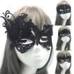Women Hollow Lace Sexy Halloween Masquerade Fancy Party Dress Costume Eye Mask