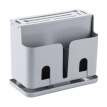 PP Chopsticks Storage Box Knife Holder Combined Kitchen Storage Home Rack Drainage Cage Covered Eusable Wall Mounted Storage Box