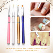 〖Follure〗4PCS Frosted Rod Nail Art UV Gel Polish Design Dot Painting Detailing Pen Brush