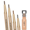 Novo Eye Brow Tint Cosmetics Natural Long Lasting Tattoo Eyebrow Waterproof Black Brown Eyebrow Pencil Makeup Set With 3 Refills