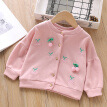Autumn Children Clothes Toddler Baby Kids Girls Jacket Cherry Button Girls Jacket Coat Kids Casual Outwear