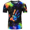 Mens Print Slim Fit Casual Short Sleeves T-Shirts Tops Blouse