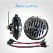A pair of price loud car motorcycle Sliver and copper color loud chroming disc horn 12V/24V, motorcycle horn, truck horn