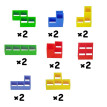 Tetris Building Blocks Stay Sensory Blocks Creativity Building Toys Dexterity