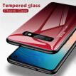 W_Tempered Glass Phone Case Gradient Color Cover Coque For Samsung Galaxy A50 A70 A10 A7 S10 NOTE 7