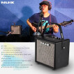 NUX Mighty 8 BT Portable 8 Watt Electric Guitar Amplifier Cube-shape Amplifier Built-in 6.5 Inch Speaker with Guitar Input Microph