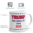 Trump Coffee Mug Trump Pence Keep America Great! 2020 MAGA Republican Conservative Gift Red Handle Ceramic Coffee Mug Tea Cup
