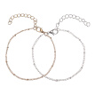 Fashion Simple Alloy Manual Hand Cord Bracelet Unisex Pair Hand Chain Jewelry Hot Gift