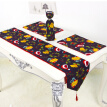 Kitchen Supplres Kit 1 Table Runner 4 Placemats And 2 Wine Bottle Covers Christmas Table Decoration