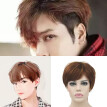 Adult Men Guy Wig Short Boy Band Wig Brown Short Perfect For Carnivals Party