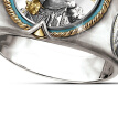 6 Styles Elegant 925 Sterling Silver Mens Rings Two Tone 18K Yellow Gold Indian Chieftain Ethnic Style Jewelry