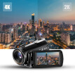 Andoer AC3 4K UHD 24MP Digital Video Camera Camcorder DV Recorder 30X Zoom WiFi Connection IR Night Vision 3.1 Inch IPS LCD Touchs