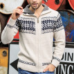 Men's New Style Fashion knitted Cardigan Sweater Blouse Fashion Printing Coat
