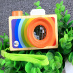 Kids Cute Wood Camera Toy Xmas Children Room Decor Natural Safe Wooden Camera