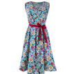 ROPALIA Women Summer Sexy V Collar Sleeveless Dresses Floral Print Tights Chiffon Dress